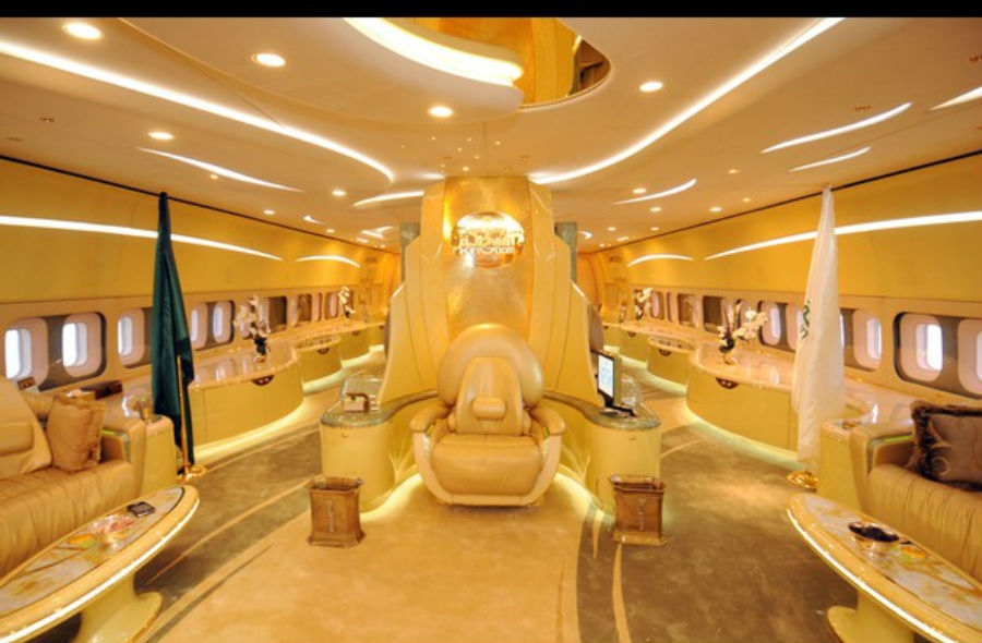 نتيجة بحث الصور عن the Saudi prince's personalized plane