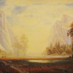 Carol Guidi after Bierstadt Looking Up Yosemite Valley Oil on panel 34x22