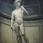 David after Michelangelo marble statue Galleria dell Accademia Florence