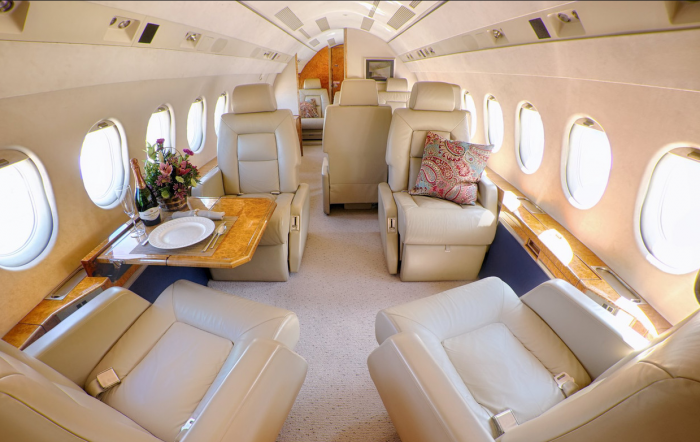 WF - add'l images -N918MV (Falcon 900) - interior