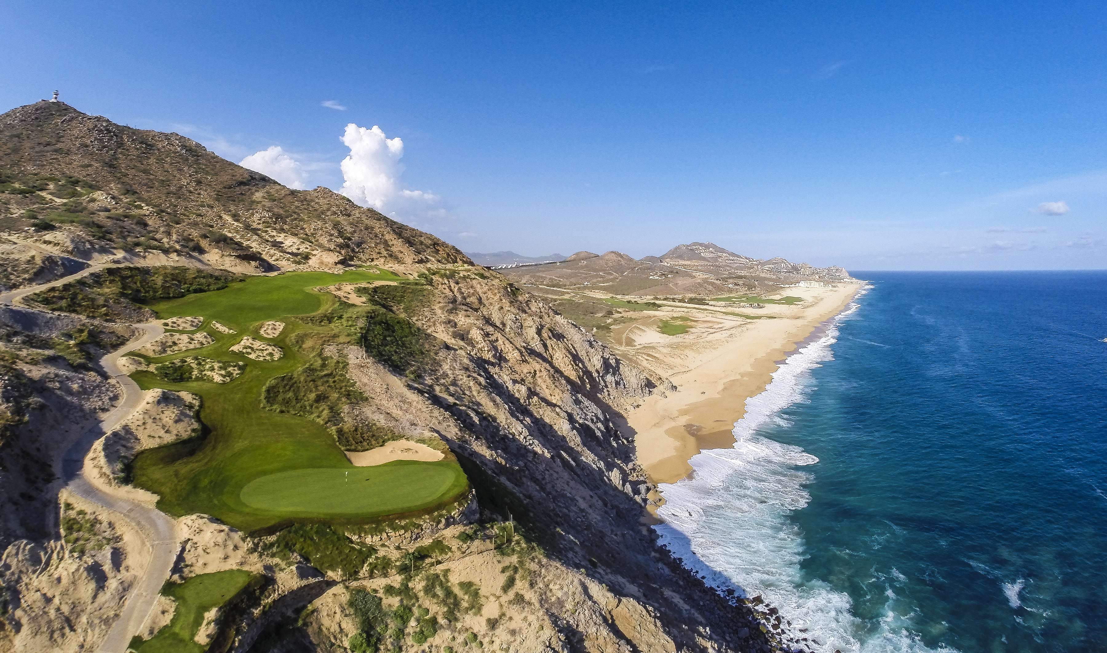 Quivira Golf Club-5green-coastline-aerial