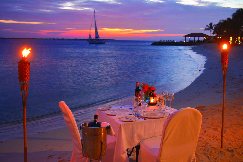Beach Torch Lit Dinner