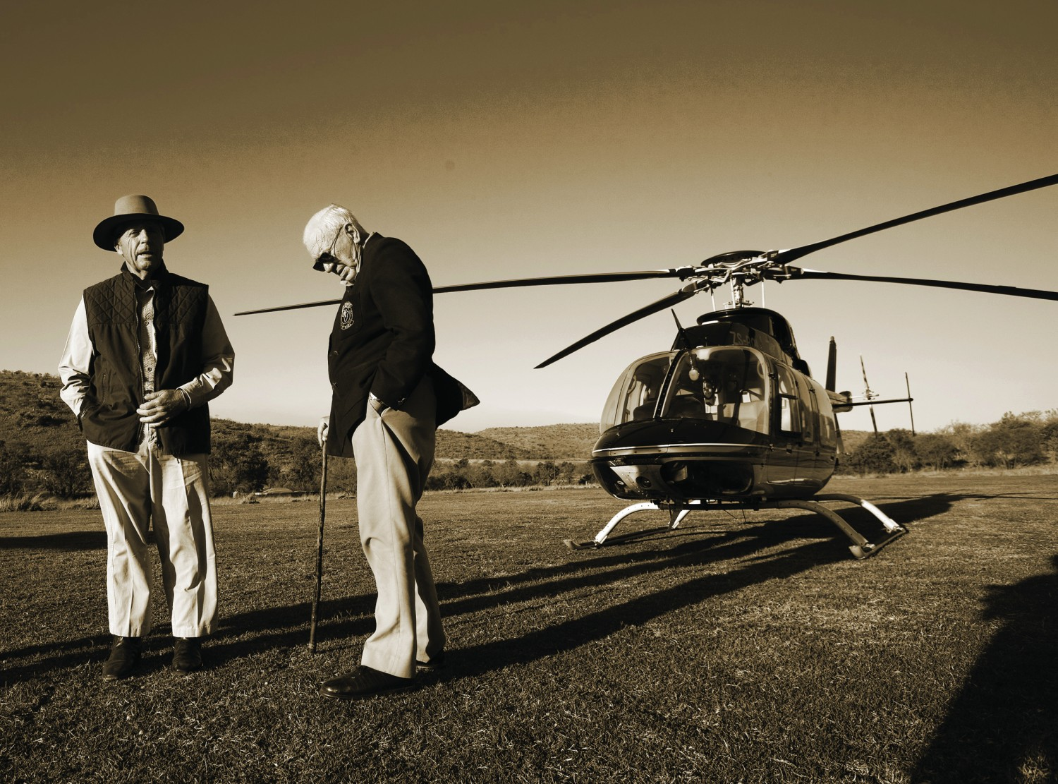 Dr. Ian Player and Gary Player - IMG_1429 sepiacropped
