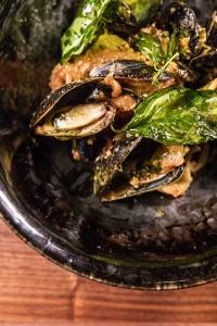 Triple Basil Mussels