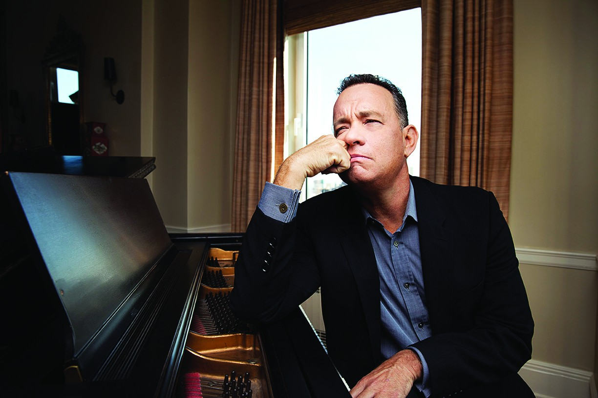 NEW YORK, NY - OCTOBER 17: Tom Hanks sits for a portrait at the Carlyle Hotel in New York, NY on October 17th, 2014. The iconic actor is a recipient of the 2014 Kennedy Center Honors. (Photo by Jesse Dittmar for The Washington Post.)