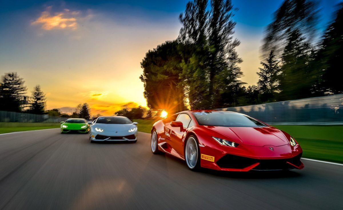 Lamborghini test drive