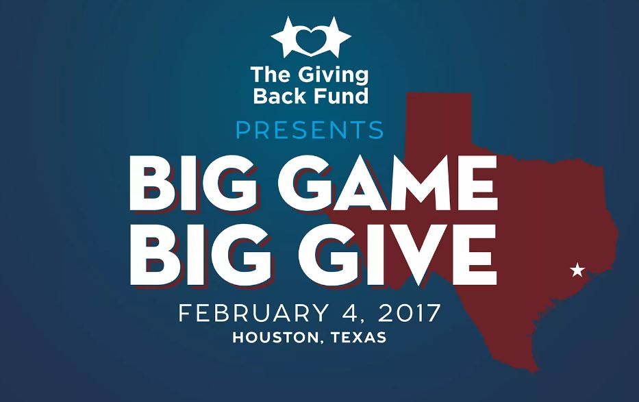 Big Game Big Give Houston 2017 Superbowl LI