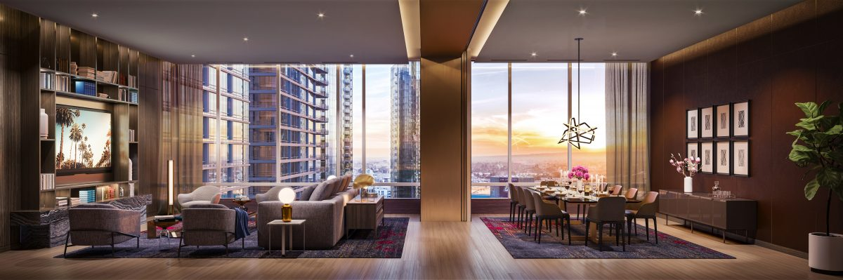 Oceanwide-Plaza-Entertainment-Room-e1530828652980 High Rise, High Style: Oceanwide Plaza's Upscale Urban Living in DTLA