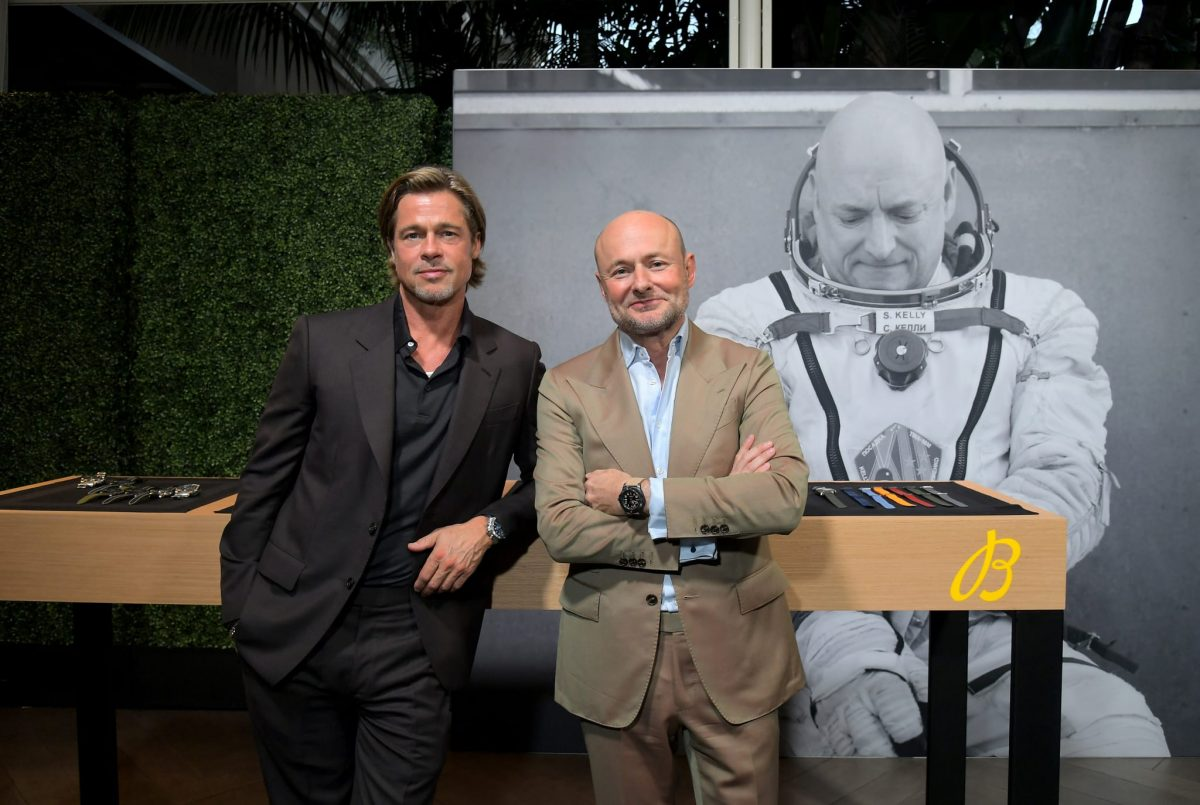 Brad Pitt and Breitling Avenger