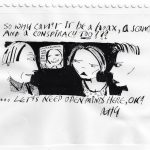 """Anthony Haden-Guest - So why can't it be; 6.5"""" x 9.2""""; Pen and Ink; 2020"""