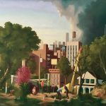 Keith Kattner - City Sublime; 36 in x 48 in; Oil on Canvas; 2018