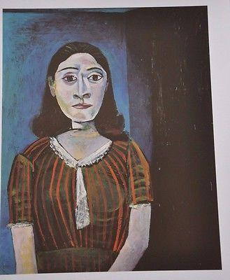 "A 1940's pure cubist ""Portrait of Dora Maar,"" Picasso's lover and famous muse"