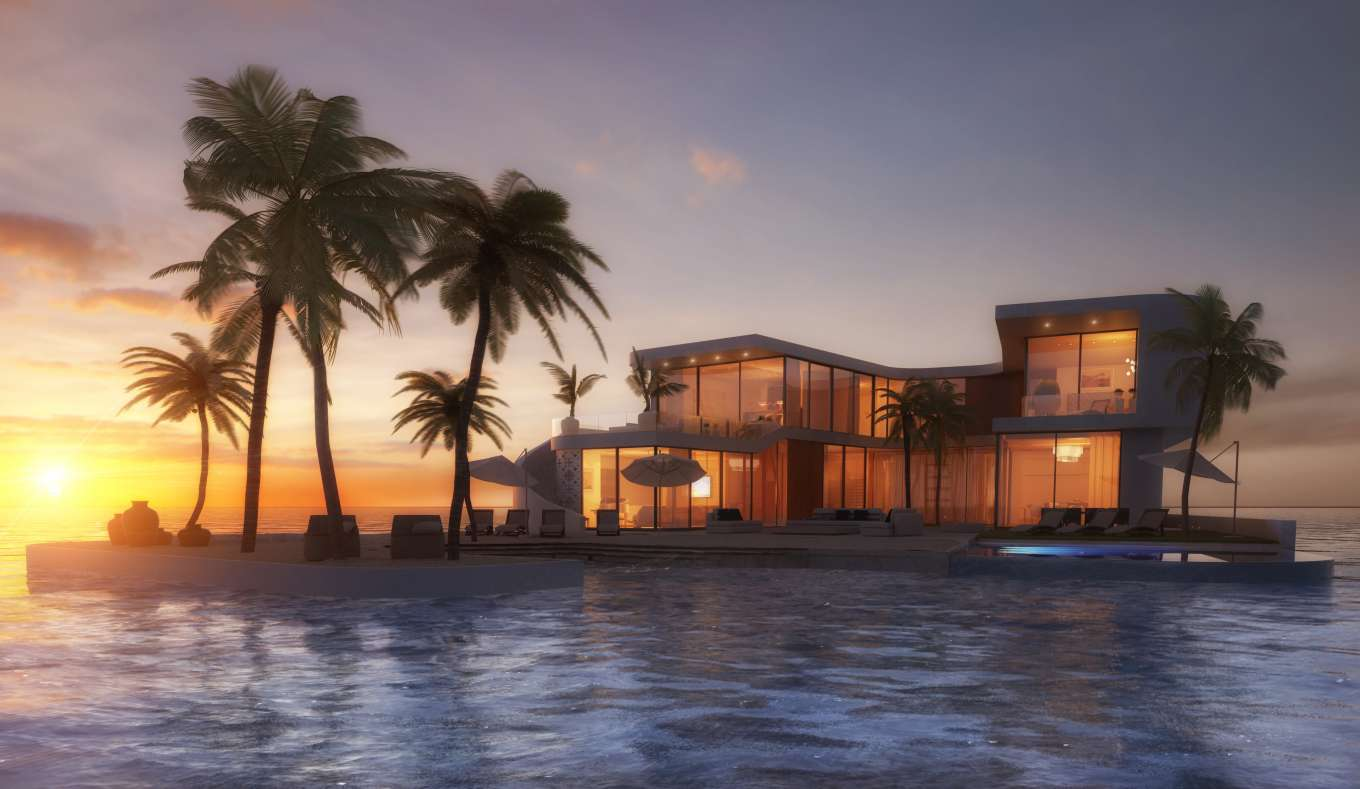 Amillarah Private Islands: Floating Residences That Adapt to Sea Level