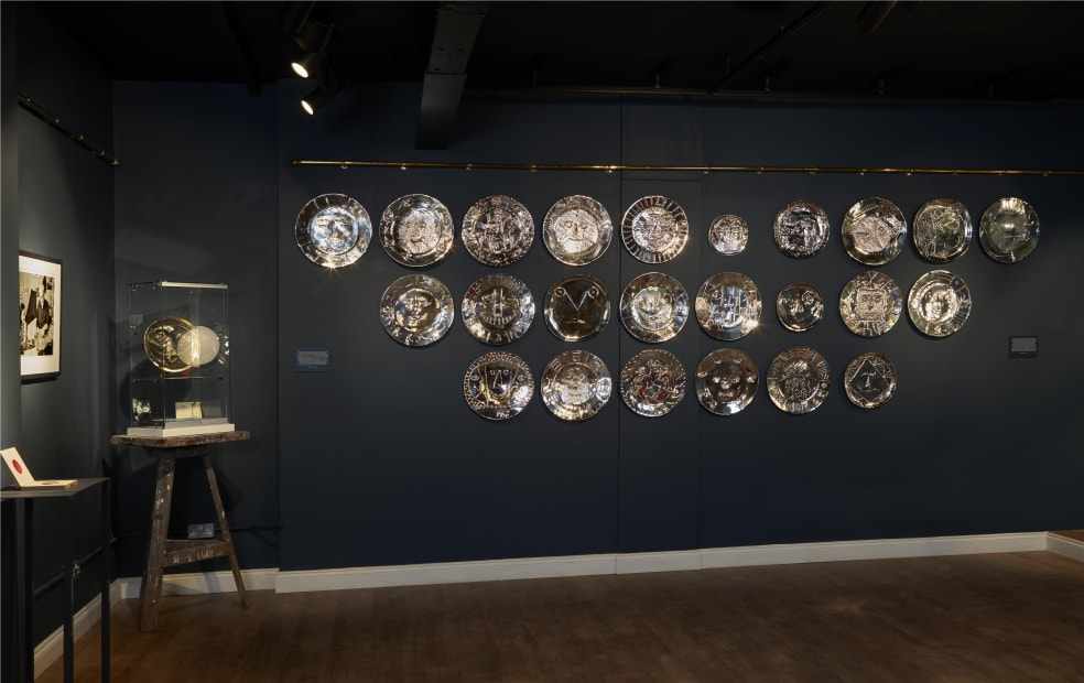 Picasso/Hugo: A Collection of 25 Silver Plates On Display in London